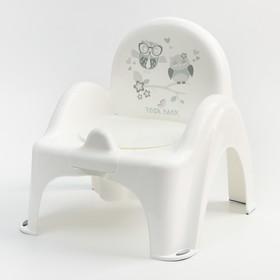 """Горшок-стульчик  """"Совы"""", цвет белый"""