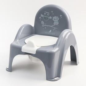 """Горшок-стульчик  """"Совы"""", цвет серый"""