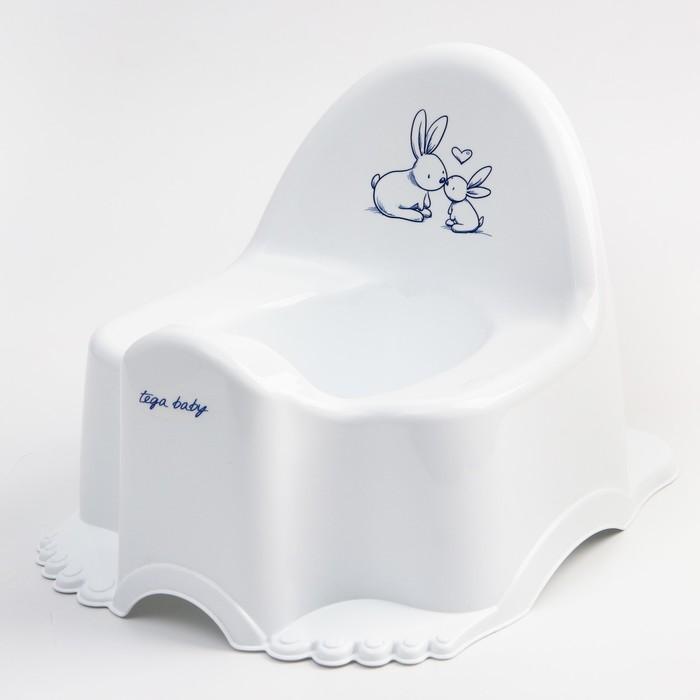 Горшок туалетный детский «Кролики», музыкальный, цвет белый - фото 106967768