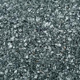 """Грунт """"Серебристый металлик""""  декоративный песок кварцевый, 250 г фр. 0,5-1 мм"""