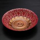 Тарелка «Мирах», d=22 см, цвет красный с золотом - фото 218195
