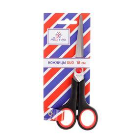 Ножницы Attomex Duo, 18 см, двухцветные, прорезиненные кольца