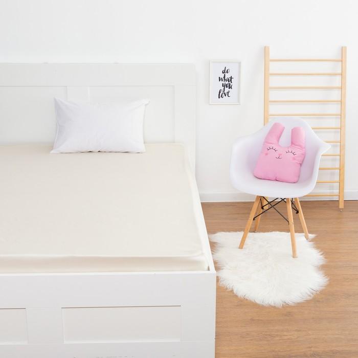 Простыня «Этель» цвет молочный, 160х210 см, мако-сатин - фото 76547289