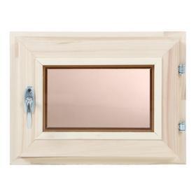 Окно, 30×40см, двойное стекло, тонированное, из липы