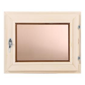 Окно, 40×50см, двойное стекло, тонированное, из липы