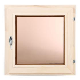 Окно, 50×50см, двойное стекло, тонированное, из липы