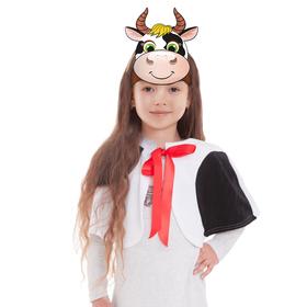 Карнавальный костюм «Коровка-пятнышко», плюш, маска-ободок, пелерина, рост 116-128 см
