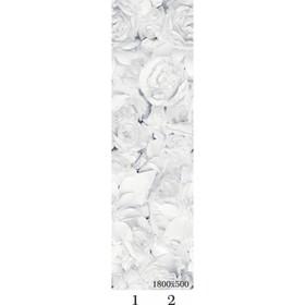 Панель потолочная PANDA Цветы добор 4141 (упаковка 4 шт.), 1,8х0,25 м