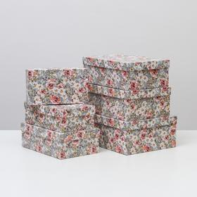 """Set of 6 boxes in 1 """"Tenderness"""", 35 x 25 x 12.5 - 23 x 13 x 7.5 cm"""