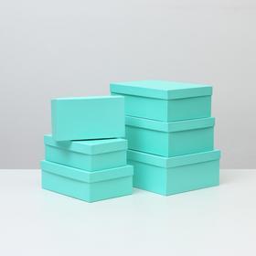 "Набор коробок 6 в 1 ""Салатовый"", 35 х 25 х 12,5 - 23 х 13 х 7,5 см"