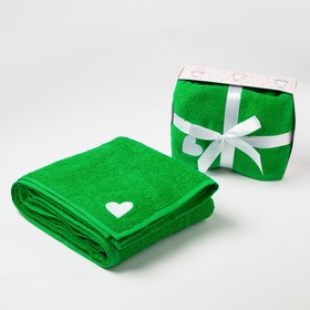 Towel baby gift Baby I 100*150 cm, all wheel drive.green 100% cotton, 340 gr/m2