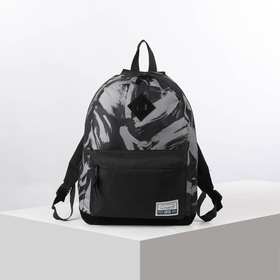 Рюкзак молодежный deVENTE Deerskin 40*30*14 Black Gray, серый/чёрный 7032073
