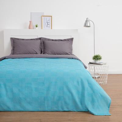 Плед-покрывало Этель «Рамаяна» 200х220± 5 см, 160 гр/м2, цвет голубой