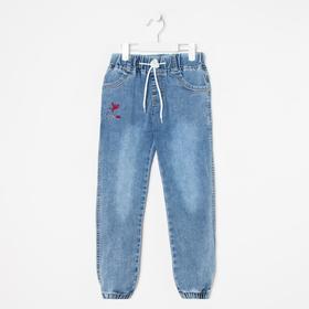 Джинсы-джогеры для мальчиков, цвет синий, рост 104 см