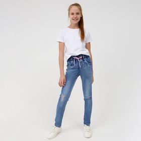 Джинсы для девочек, цвет синий, рост 122 см