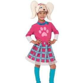Карнавальный костюм «Роза», маска, юбка, гетры, кофта, р. 28-30, рост 104-110 см