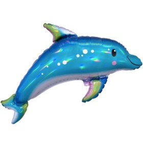 """Шар фольгированный 29"""" «Дельфин», фигура"""