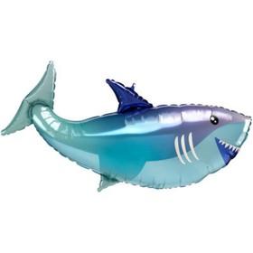 """Шар фольгированный 38"""" «Акула», фигура"""