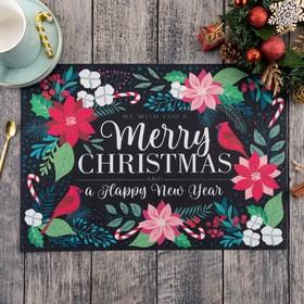 """Салфетка на стол """"Merry Christmas"""" 40х29 см"""