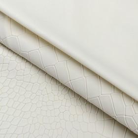 Пэчворк декоративная кожа «Белые ночи», 50 х 50 см.