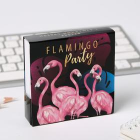 """Бумажный блок в картонном футляре """"Фламинго"""", 250 листов"""