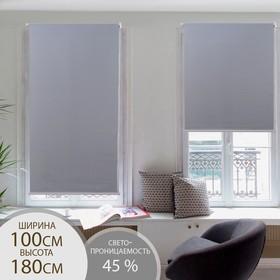 Штора рулонная «Механика», 100×180 см (с учётом креплений 3,5 см), цвет серый