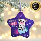 "Suspension glowing ""soul plane new year!"", 12 x 11.5 cm"