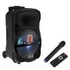 Портативная караоке система MAX Q80, 15 Вт, FM, AUX, micro SD, USB, BT, Li-Ion 4400 мАч