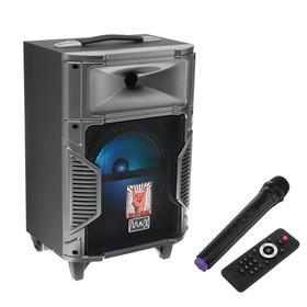 Портативная караоке система MAX Q90, 25 Вт, FM, AUX, micro SD, USB, BT, Li-Ion 6600 мАч