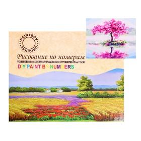 Картина по номерам на холсте «Уединение сакуры» 40х50 см
