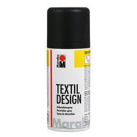 Краска по ткани (аэрозоль) 150 мл, Marabu Textil Design, цвет чёрный (акриловая)