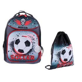 Рюкзак каркасный, Luris «Джерри 8», 36 x 27 x 20 см, наполнение: мешок для обуви, «Футбол»