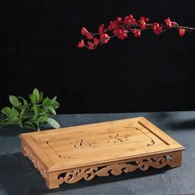 """Стол для чайной церемонии с подносом 45х30х7 см """"Бамбуковая роскошь"""""""