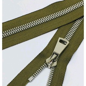 Молния для одежды, №8СТ, разъёмная, 110 см, цвет хаки
