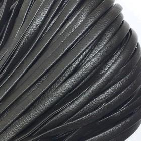 Шнур декоративный, кожзам, 5 мм, цвет коричневый Ош