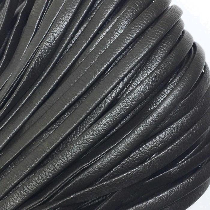 Шнур декоративный, кожзам, 5 мм, цвет коричневый