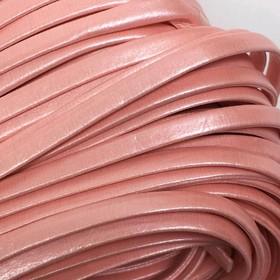 Шнур декоративный, кожзам, 5 мм, цвет розовый Ош