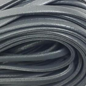 Шнур декоративный, кожзам, 5 мм, цвет серый Ош