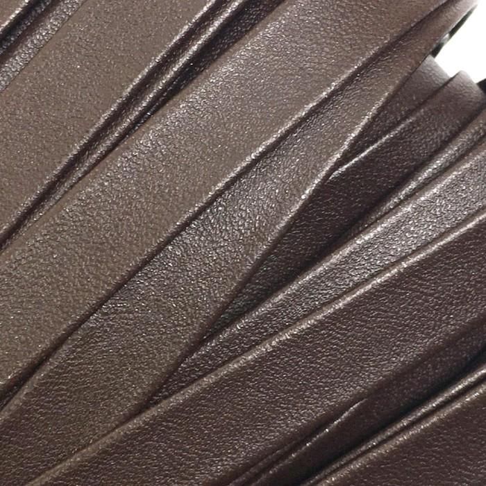 Шнур декоративный, кожзам, 10 мм, цвет коричневый