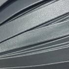Шнур декоративный, кожзам, 10 мм, цвет серый