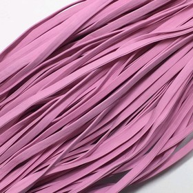 Шнур декоративный, кожзам, 4 мм, цвет розовый Ош