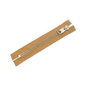 Молния для одежды, №10 RR, неразъёмная, 18 см, цвет песочный