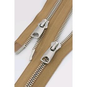 Молния для одежды, №10 RR, разъёмная, 40 см, цвет песочный