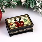 """Box """"Cash Cow"""", 6x9 cm, lacquer miniature"""