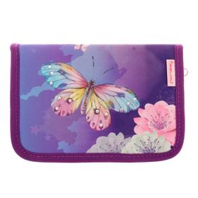 Пенал 1 секция откидные 2 планки 140*200 ткань Belmil дев My Butterfly, сиреневый