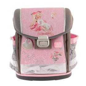 Ранец на замке Belmil Classy 36*32*19 дев напол: мешок, пенал Ballerina, розовый/серый