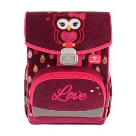 Ранец на замке Belmil Click 35*26*17 дев Mia, the Owl, бордовый