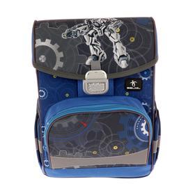 Ранец на замке Belmil Click 35*26*17 мал Robot, синий