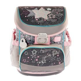 Ранец на замке Belmil Mini-Fit 36*28*17 дев напол: мешок, пенал Shine Like a Star, серый