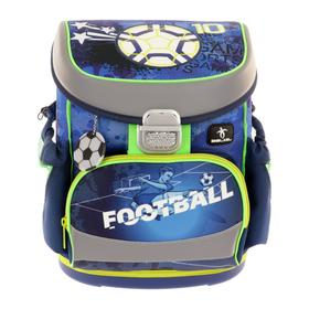 Ранец на замке Belmil Mini-Fit 36*28*17 мал Soccer Sport, синий